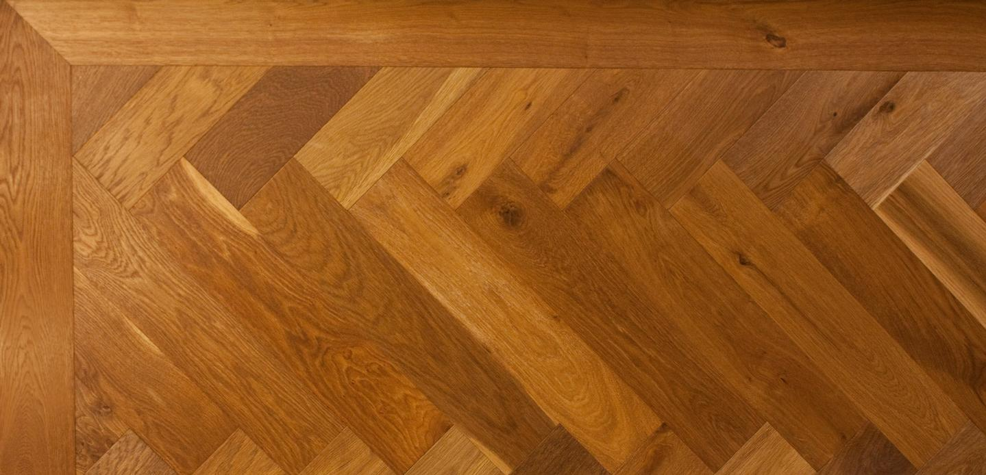 Honey Oak Herringbone