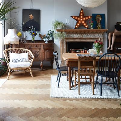 Istoria Bespoke Clear Matt Smoked Herringbone by Tania Urban