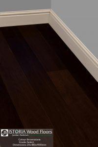 Brownstone Carbonised Dark Brown Istoria Bespoke Engineered Oak Wood Flooring by Jordan Andrews