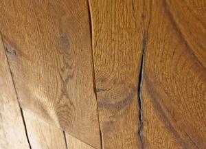 Vintage Smokey Mountain Distressed Surface Cracks Natural Rustic Textured Istoria Bespoke Engineered Oak Wood Flooring by Jordan Andrews