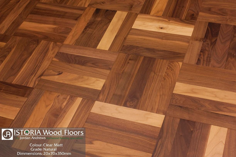 solid walnut parquet blocks slide 1