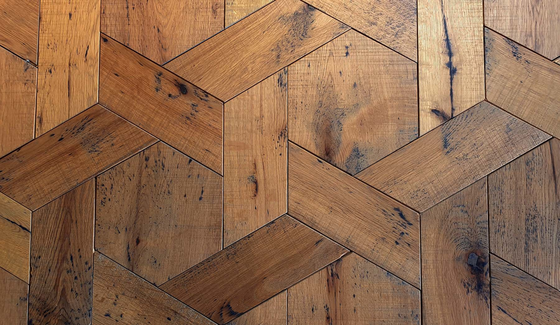 Reclaimed & Sawn Gloucester Grey Hex Weave