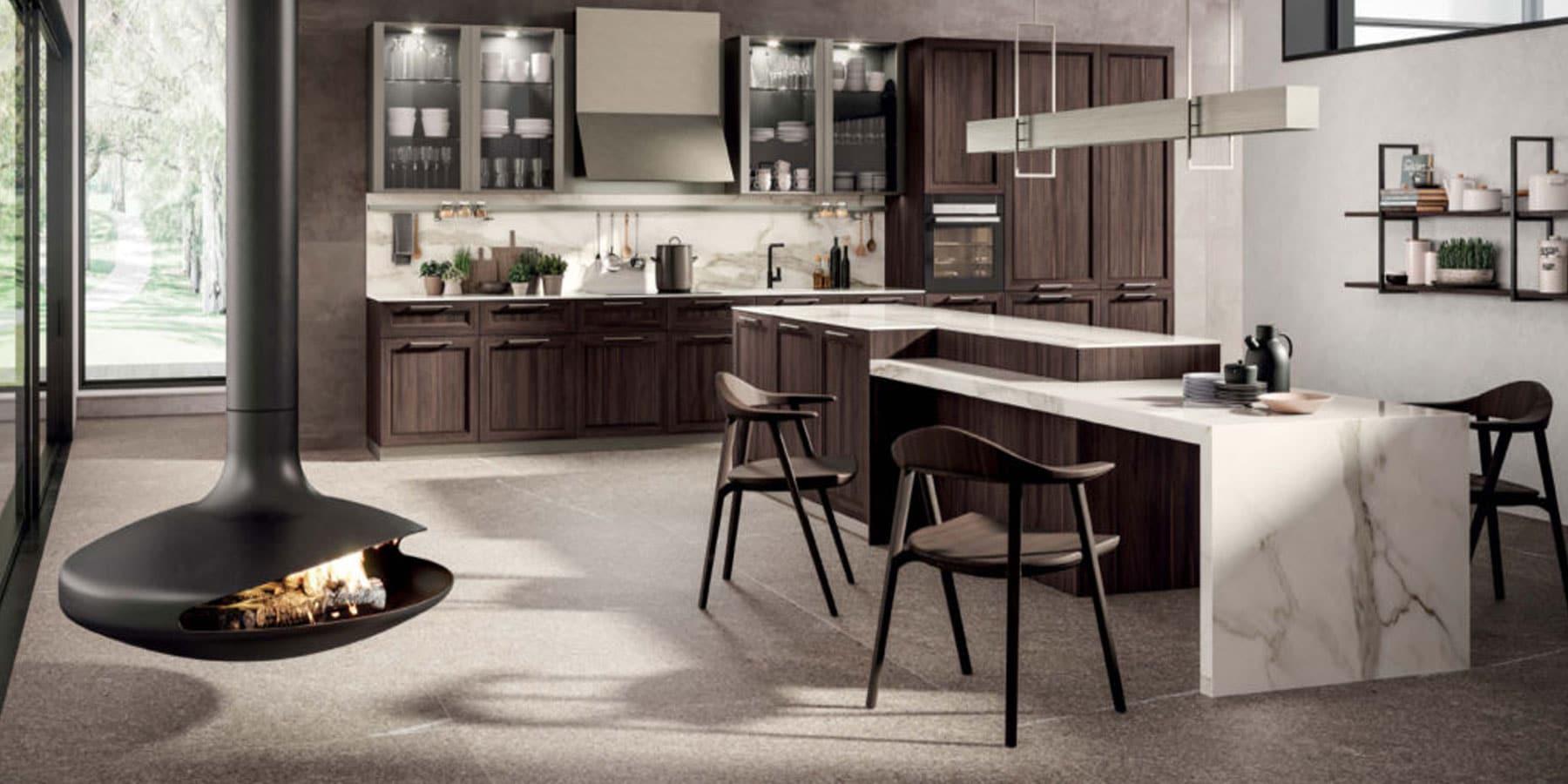 Dorchena Interiors by Istoria Brown Wood Kitchen