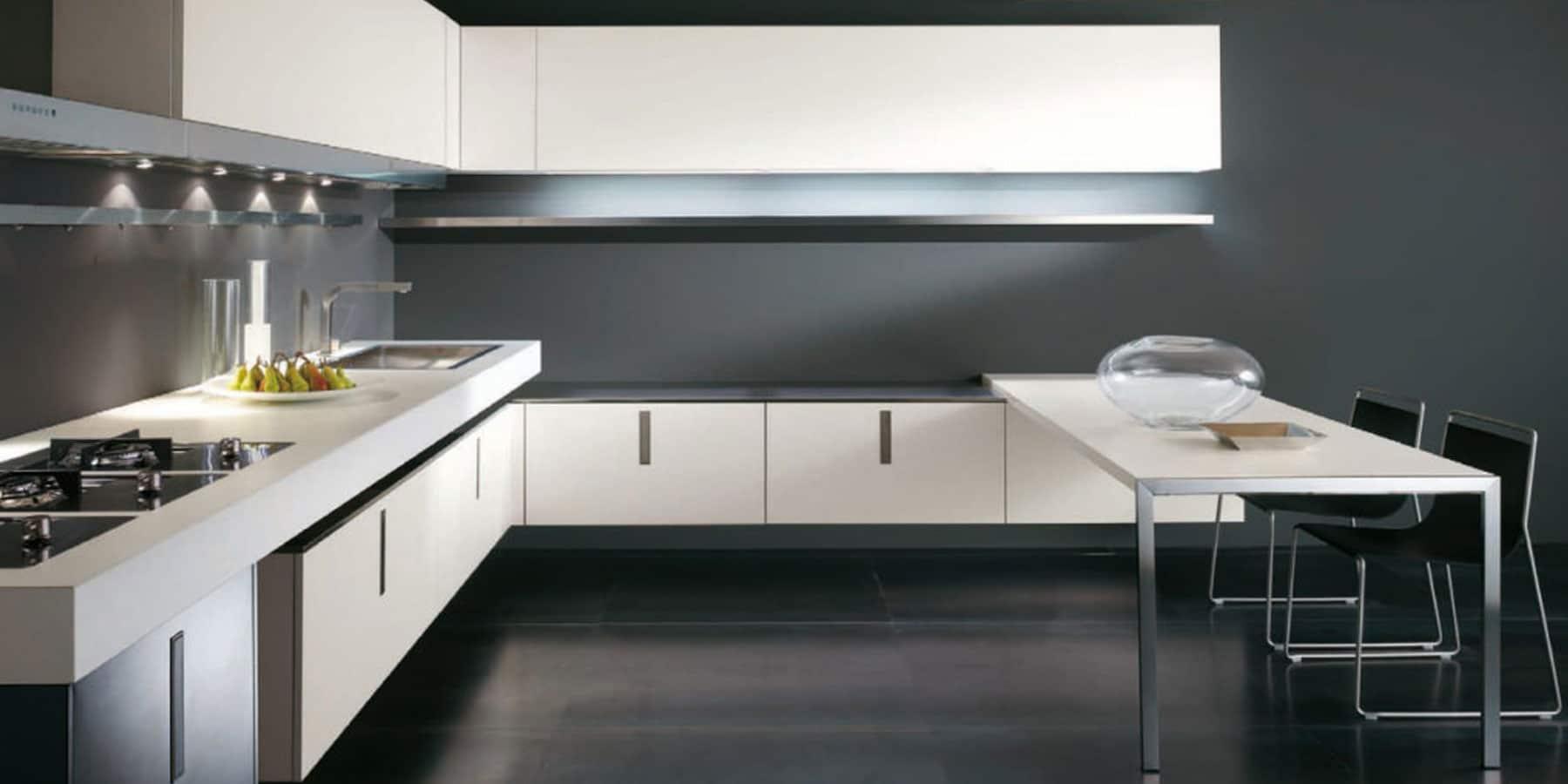 Dorchena Interiors by Istoria White & Black Kitchen