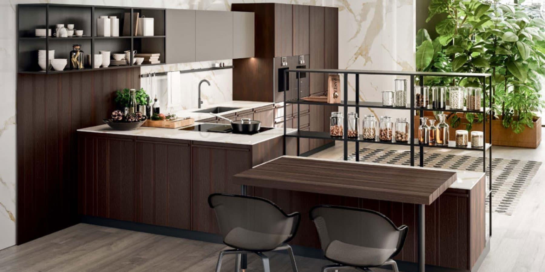 Dorchena by Istoria Dark Brown Wood Kitchen Composit Pepper